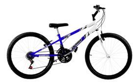 Bicicleta Aro 26 Bicolor Azul E Branca Pro Tork Ultra