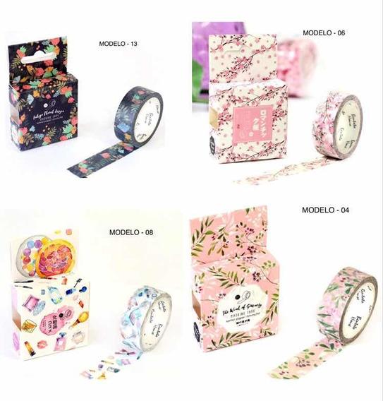 6 Kit Washi Tape Fita Adesiva Decorada Importada Original