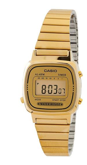 Reloj Casio Mujer Dorado La670wga-9sdf