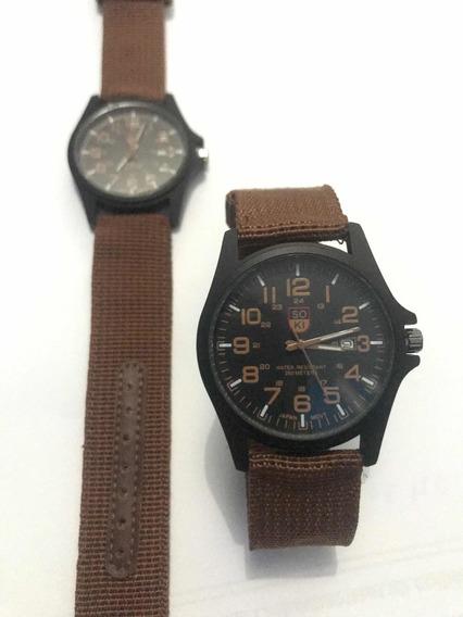 Relógio Masculino Militar Pulseira Nylon Soki