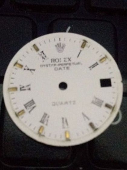 Fundo Mostrador Original Rolex Oyster Perpetual Date Romano