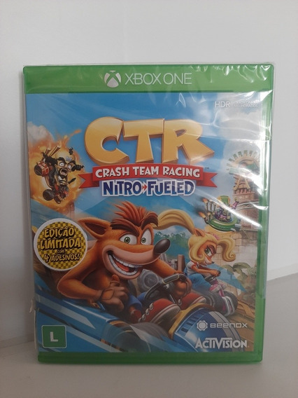 Jogo Crash Team Racing Xbox One Lacrado Fisica