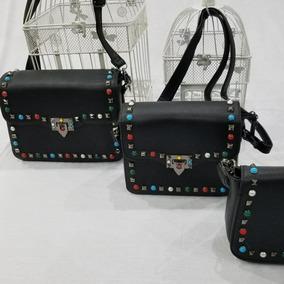 Bolsa Kit Com 3 Peças Feminina Inspired Valentino Taxas