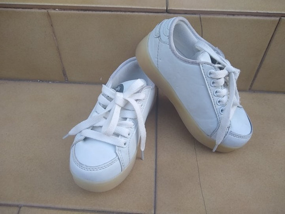 Zapatillas Footy De Cuero Blancas De Nena Nº 26