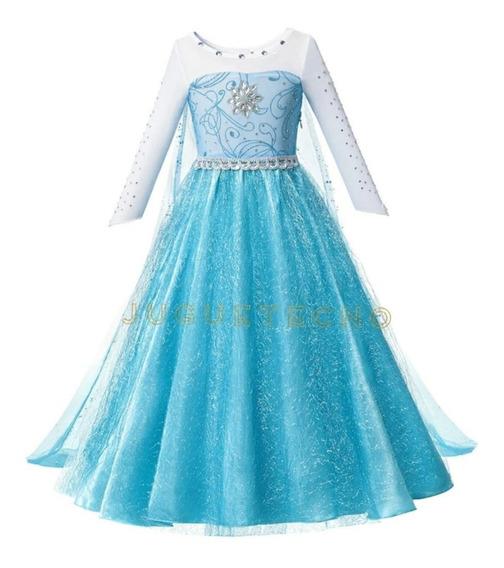 Hermoso Vestido Elsa Frozen 1 Importado