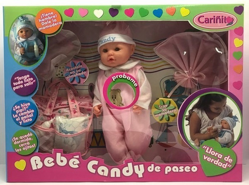 Toys Palace Muñeca Bebe Candy De Paseo Cariñito