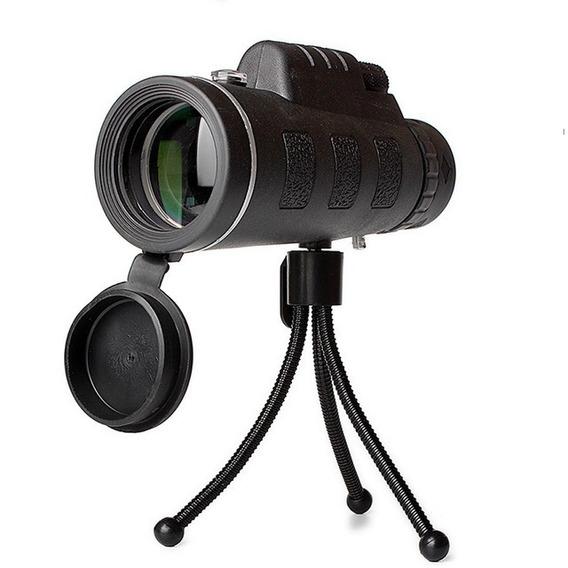 Telescópio Luneta Portátil 35x50 + Tripé + Suporte Celular