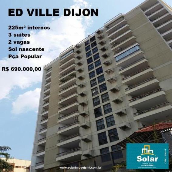 Apartamento Com 3 Quarto(s) No Bairro Popular Em Cuiabá - Mt - 00398