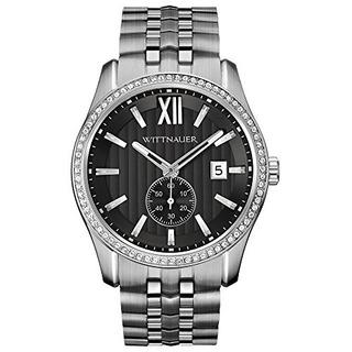 Reloj De Hombre Wittner Wn3031 Crystal Pave Bezel De Acero I