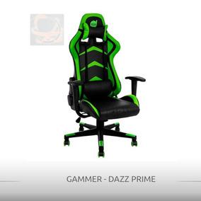 Cadeira Gamer Prime Dazz Preto/verde - De Vitrine