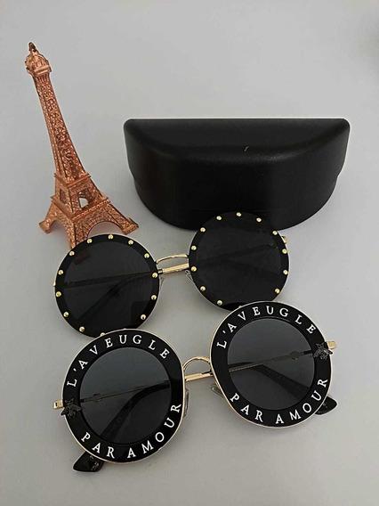 Lote Com Dois Óculos De Sol Importado Par Amour Chique Luxo