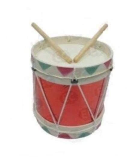 E236a Tambor Infantil De Piel No. 10 Musica Varios Colores