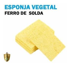 Esponja Vegetal Para Ferro De Solda (lote Com 10 Unidades)