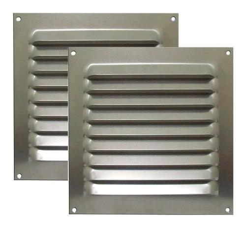 Kit 2 Grades Ventilação Alumínio Itc 20x20cm Para Motorhome