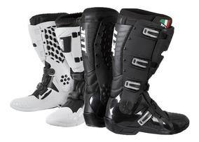 Bota Jett Motocross Trilha Enduro Preta Ou Branca