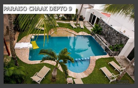 Rento Depto Amueblado En Tulum 2 Rec Y 2 Baños, Largo Plazo