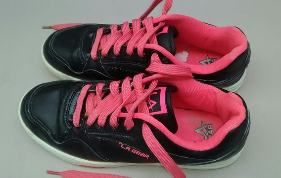 Zapatillas L.a. Gear 38 Negra Rosa