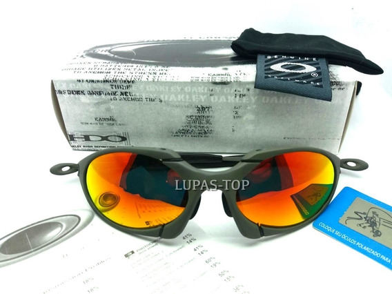 Oculos Lupa Oakley Romeo 1 X Metal Lentes Ruby Polarizadas