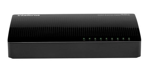 Switch Intelbras Sg 800 Q+ 8 Portas Gigabit 10/100/1000 Top