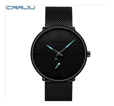 Relógio Masculino Casual Esportivo Crrju - Frete Grátis