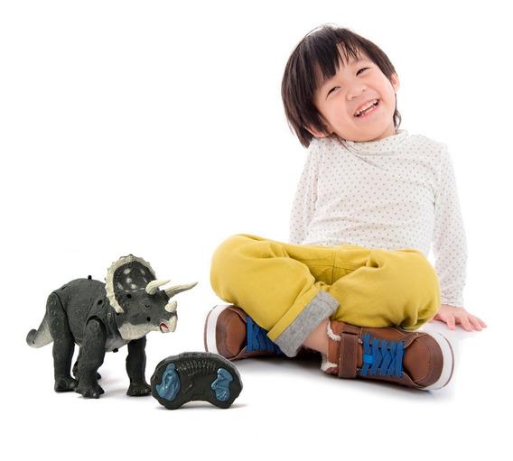 Dinossauro De Brinquedo Controle Remoto Som Luz Ação
