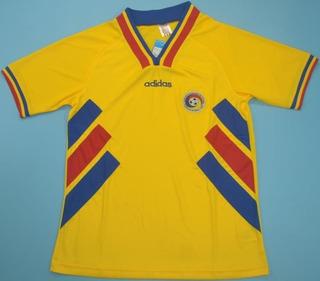 Camisa Retrô Seleção Da Romênia 1994 - Uniforme 1