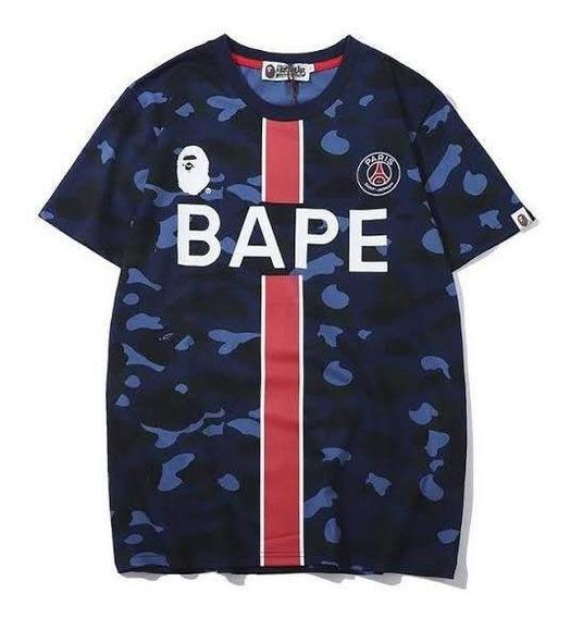 T-shirt Camiseta Playera Bape X París Saint Germain