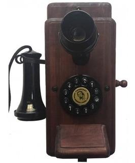 Telefone Retrô Vintage De Parede 50 Cm