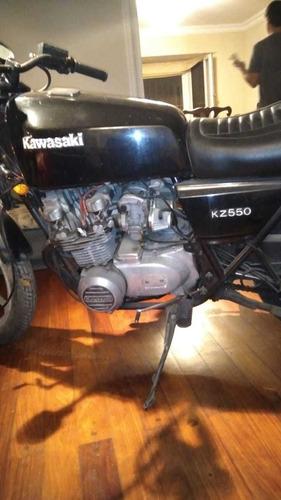 Kawazaki Kz 550 1981 Negra 4 Cilindros Negra Clasica Colecci