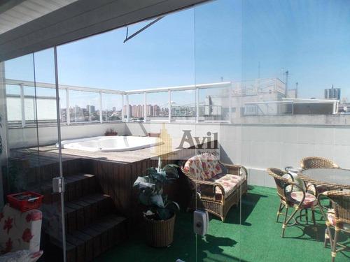 Cobertura Com 3 Dormitórios À Venda, 122 M² Por R$ 720.000,00 - Vila Carrão - São Paulo/sp - Co0075