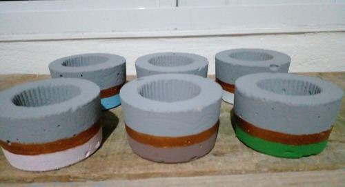 Imagem 1 de 5 de Cachepô Baby Para Suculentas E Mini Cactos Kit 3 Unidades.