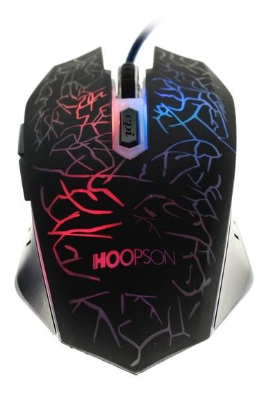 Mouse Laser Gamer Hoopson 6 Botões 2400dpi Usb P/ Jogos Pc
