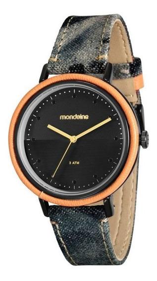 Relógio Mondaine Jeans Com Couro Sintetico 89006 Lpmvph2