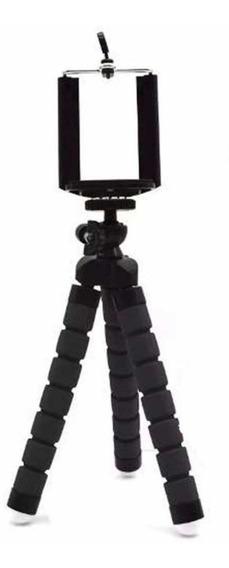 Tripé Flexível Articulado Suporte Celular Câmera Preto