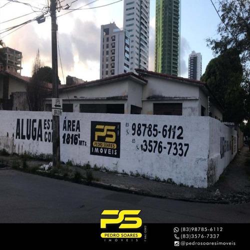 Imagem 1 de 3 de Terreno Para Alugar, 1.826 M² Por R$ 18.000/mês - Brisamar - João Pessoa/pb - Te0147