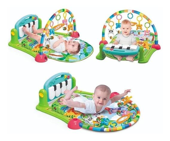 Gimnasio Alfombra Piano Música Manta Con Sonajeros Para Bebe