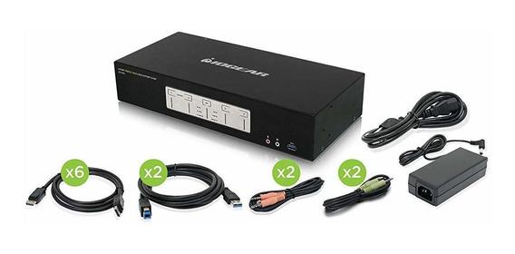 Switch Iogear 4-port 4k Triple View Displayport Kvmp Full S®