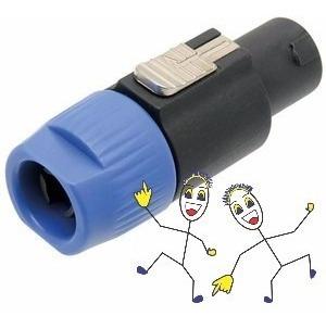 Plug Canon Macho Spkon 4 Vias C Abraçadeira Star Cable