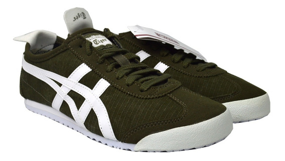 Tenis Onitsuka Tiger Unisex Verde Mexico 66 1183a223300