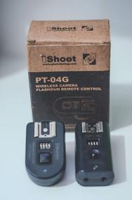 Rádio Flash Ishoot Pt-04g P/ Nikon C/ Baterias Recarregáveis