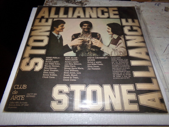 Stone Alliance Club De Arte Vinilo Lp Kktus