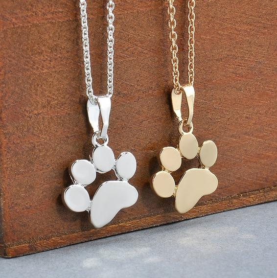 Collar Huella Mascota Perro Gato Mujer Dije Recuerdo