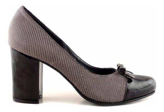 Zapato Cuero Mujer Briganti De Vestir Con Taco - Mccz03491