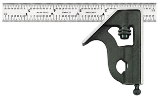 Starrett 11h 6 4r 6 Inch Combination Square With Cast Iron H