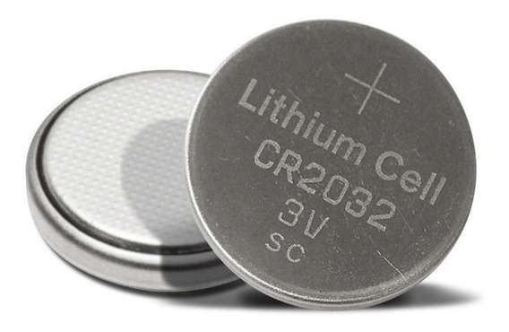 2pcs Bateria 1bt Cr2032 P/ Afinador Cpu Bios Alarmes Garmin