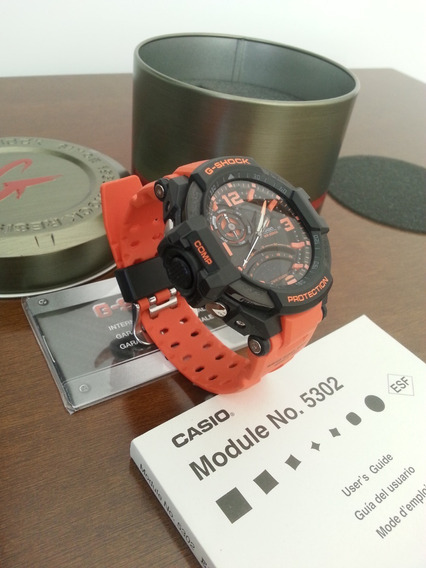 Casio G Shock Ga-1000 Laranja Original