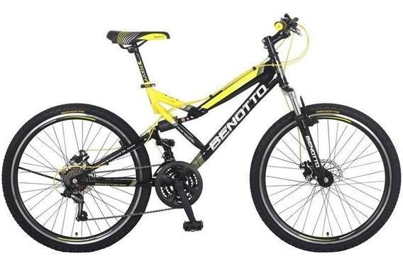 Bicicleta Benotto Montaña Navy R26 21v. Ds Shimano Dob Disco