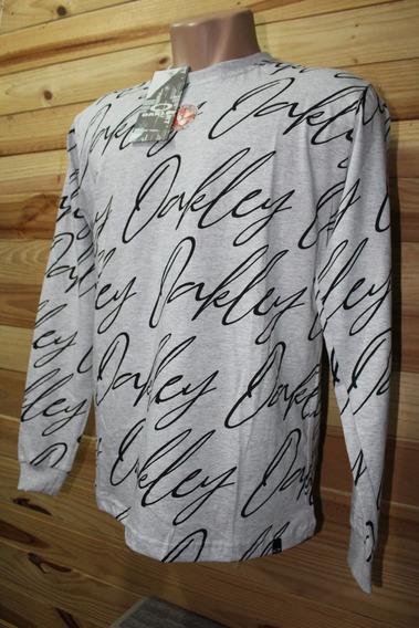 Camisa Masculina Manga Longa E Gola Redonda - Marcas