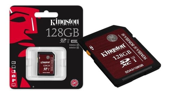 Cartão Sd 128gb Kingston Ultimate Sdxc Sdhc Classe3 Uhs-i U3