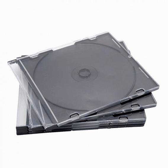 Estuche Acrílico Cd Dvd Cubierta Transparent 5unid X 4 Verds